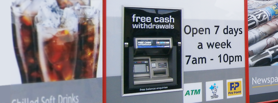 Cash withdrawal banner