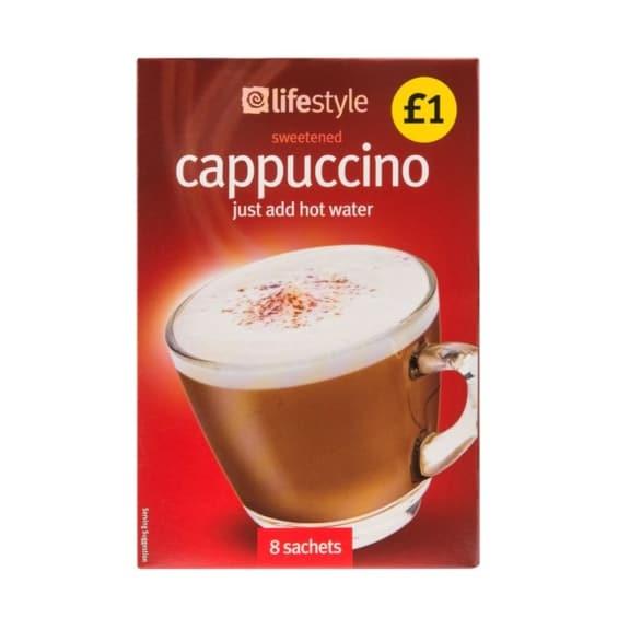 Lifestyle Cappuccino Sachets, 8pk, PM £1