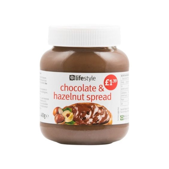 Lifestyle Chocolate and Hazlenut Spread, 400g, PM £1.39