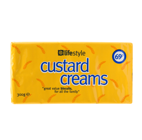 Lifestyle Custard Creams, 300g, PM 69p