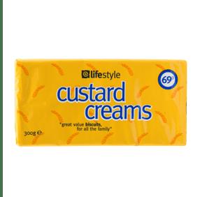 Lifestyle Custard Creams, 300g, PM 69p