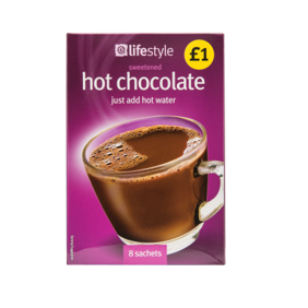 Lifestyle Hot Chocolate Sachets, 8pk, PM £1