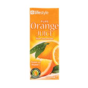 Lifestyle Pure Orange Juice, 200ml
