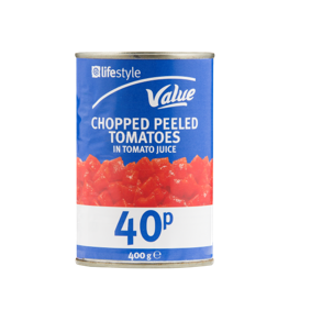 Lifestyle Value Chopped Tomatoes, 400g, PM 40p
