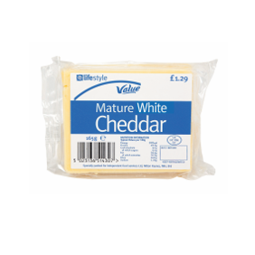 Lifestyle Value Mature White Cheddar, 150g, PM £1.29