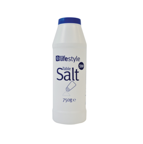 Lifestyle table salt, 750g, PM 59p