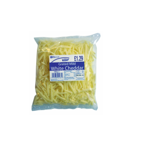Lifestyle Value Grated Mild White Cheddar, 180g, PM £1.29