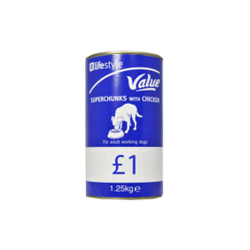 Lifestyle Value Dog Food Superchunks with Chicken, 6 x 1.25kg, PM £1