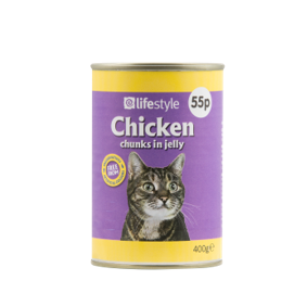 Lifestyle Cat Food Chicken Chunks in Jelly, 12 x 400g, PM 55p