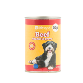 Lifestyle Dog Food Beef Chunks in Jelly, 12 x 400g, PM 55p