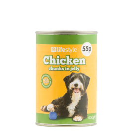 Lifestyle Dog Food Chicken Chunks in Jelly, 12 x 400g, PM 55p