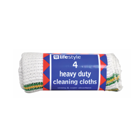Lifestyle Heavy Duty Cleaning Cloths, 5 x 4 pack