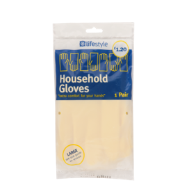 Lifestyle Rubber Gloves Large 12 x 1 pair – PM £1.20