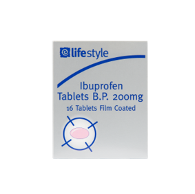 Lifestyle Ibuprofen Tablets Blister pack, 12 x 16 pack