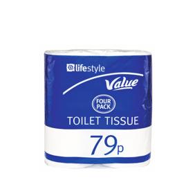 Lifestyle Value Toilet Tissue, 12 x 4 pack, PM 79p