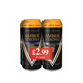 Amber Strong, PM £2.99, 4 x 500ml