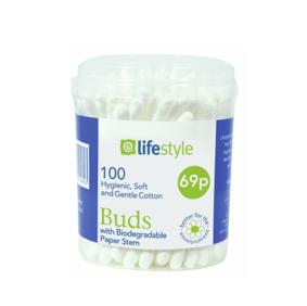Lifestyle Cotton Buds, 12 x 100 pack, PM 69p