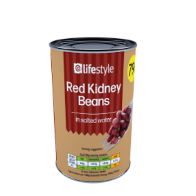 Lifestyle Red Kidney beans 12 x 400g, PM 79p