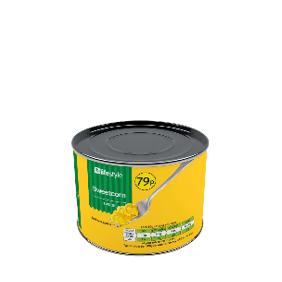 Lifestyle Sweetcorn kernels 12 x 326g, PM 79p