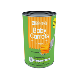 Lifestyle Extra fine carrots 6 x 400g, PM 79p