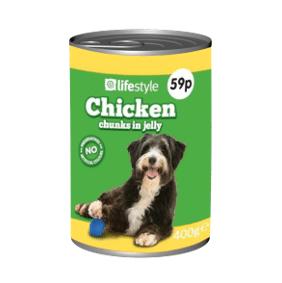 Lifestyle Dog Food Chicken Chunks in Gravy, 12 x 400g, PM 59p