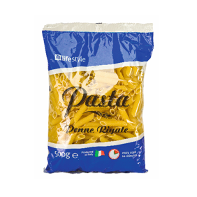 Lifestyle Pasta Penne Rigate, 500g